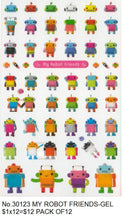 Load image into Gallery viewer, 301231 MY ROBOT FRIENDS-GEL STICKER-1 sheet