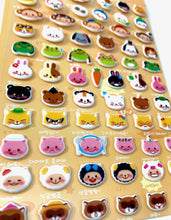 Load image into Gallery viewer, 309561 ANIMAL FACES SOFT PUFFY STICKERS-1 sheet