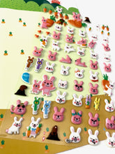 Load image into Gallery viewer, 312671 RABBIT SOFT PUFFY STICKERS-1 sheet