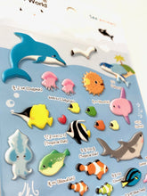 Load image into Gallery viewer, 315191 SEA ANIMAL Puffy STICKER-1 sheet
