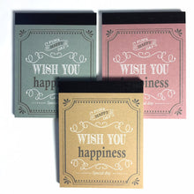 Load image into Gallery viewer, 133202 Kyowa 3 notepads-HAPPY-3 assorted note pads