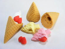 Load image into Gallery viewer, 380123 IWAKO ICE CREAM WAFFLE ERASER-PINK-1 ERASER