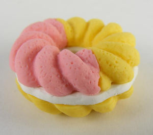 383621 IWAKO DESSERT TRIPLE ERASERS-1 bag of 3 erasers