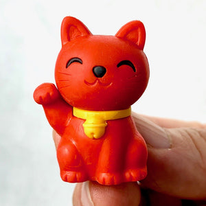 380144 MANEKI WELCOME CAT ERASER-RED-1 ERASER