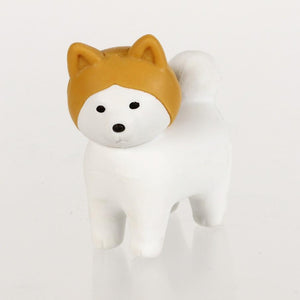 380282 IWAKO AKITA & DOG ERASERS-5 packs of erasers