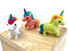 Load image into Gallery viewer, 380452 IWAKO Unicorn Erasers-3 erasers