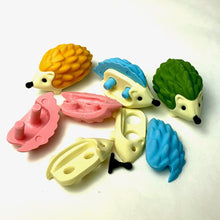 Load image into Gallery viewer, 382402 IWAKO HAMSTER HEDGEHOG ERASER-8 erasers