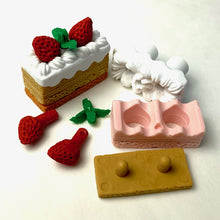 Load image into Gallery viewer, 381476 IWAKO SQUARE CAKE ERASER-CHOCOLATE-1 ERASER