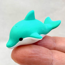 Load image into Gallery viewer, 381804 IWAKO DOLPHIN ERASER-TROPICAL BLUE-1 eraser