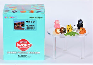 382372 IWAKO SAFARI ANIMAL ERASER-8 erasers