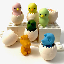 Load image into Gallery viewer, 382413 IWAKO BABY CHICK & EGG ERASER-YELLOW-1 eraser