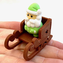 Load image into Gallery viewer, 382648 IWAKO SANTA CLAUS ERASER-GREEN-1 eraser