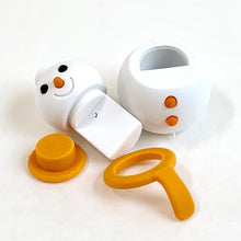 Load image into Gallery viewer, 382654 IWAKO SNOWMAN ERASER-ORANGE-1 ERASER