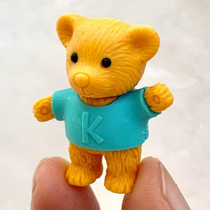 381444 BEAR ERASERS-2 COLORS-2 erasers
