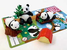 Load image into Gallery viewer, 383001 IWAKO PANDA FAMILY ERASERS CARD-1 CARD