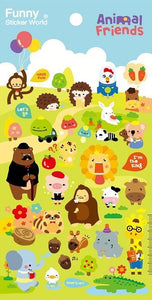 398121 ANIMALS GEL STICKERS-1 sheet