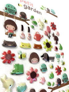 404121 PETIT GARDEN PUFFY STICKER-1 sheet