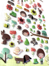 Load image into Gallery viewer, 404121 PETIT GARDEN PUFFY STICKER-1 sheet