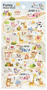 404671 LETS GO CAMPING GEL STICKER-1 sheet