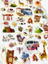 Load image into Gallery viewer, 404671 LETS GO CAMPING GEL STICKER-1 sheet