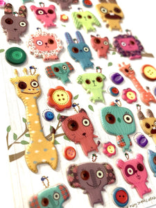 405591 DANCHU DOLL PUFFY STICKERS-1 sheet