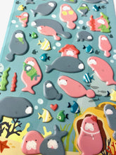 Load image into Gallery viewer, 407881 MANATEE PUFFY STICKERS-1 sheet