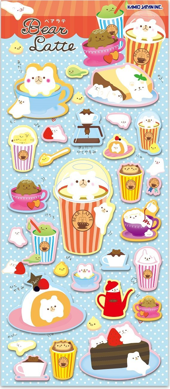 462011 KAMIO POPCORN PUFFY STICKERS-1 sheet