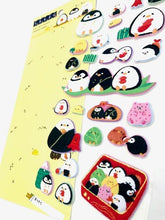 Load image into Gallery viewer, 463801 KAMIO PENGUIN PUFFY STICKERS-1 sheet