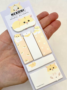 500671 HAMSTER STICKY NOTES SET-1 pad
