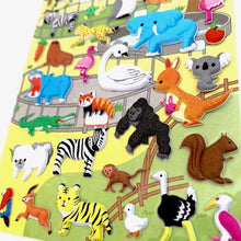Load image into Gallery viewer, 501541 ZOO PUFFY STICKER-1 sheet