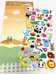 502791 WILD PUFFY STICKER-1 sheet