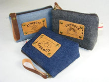 Load image into Gallery viewer, 606061 BLUE JEANS COIN BAG-BLUE-1 BAG