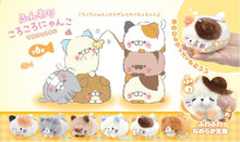Load image into Gallery viewer, 63009 CAT KEY CHARM PLUSH-6 assorted cats.