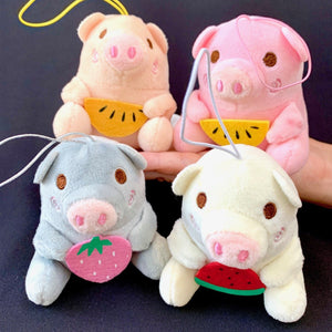 630971 PIG PLUSH-4 assorted pigs