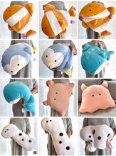 Load image into Gallery viewer, 63219 AQUARIUM JUMBO PLUSH PILLOWS-5 assorted animals