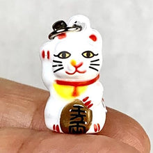 Load image into Gallery viewer, 706071 WHITE MANEKI CAT BELL-1 bell