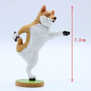 707141 YOGA DOG FIGURINES-6 assorted
