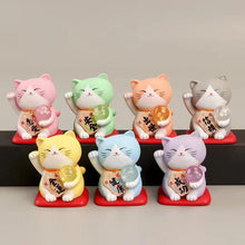 Load image into Gallery viewer, 707173 MANEKI NEKO FIGURINE-PEACH CAT-1 CAT
