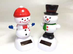 721331 SNOWMAN SOLAR DANCING TOY-2 assorted pieces