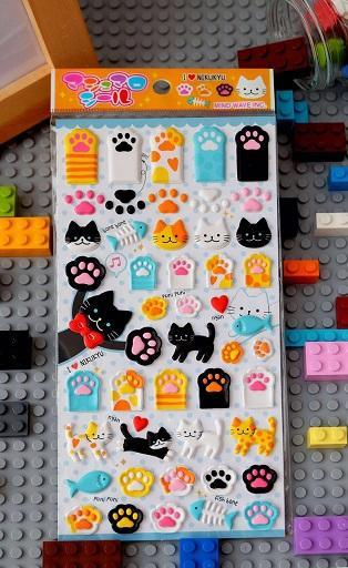 721471 PAWS STICKERS-1 sheet