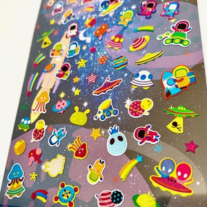 724951 SPACE FLAT STICKERS-1 sheet