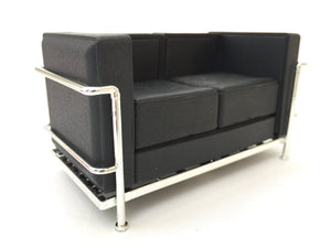 75126 LC2 Le Corbusier Loveseat-Black-1 sofa