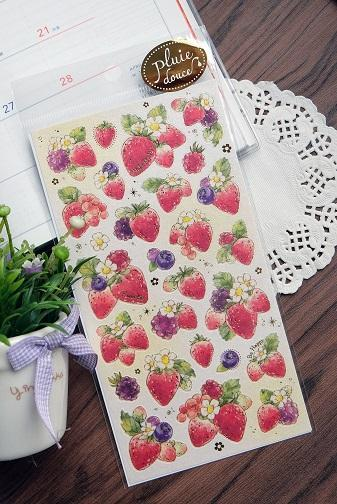 778141 Strawberry Stickers-1 sheet