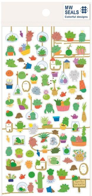 782401 CACTUS CLEAR STICKER-1 sheet