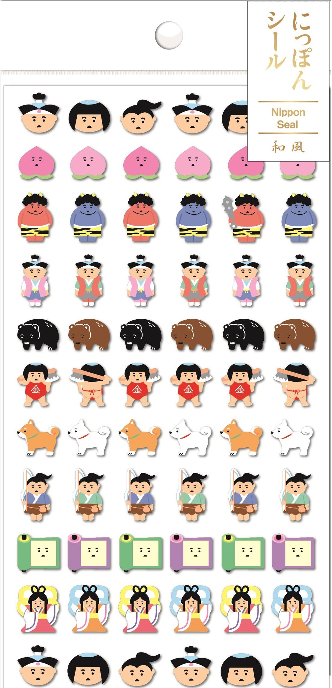 783891 NIPPON MINI PEACH BOY STICKERS-1 sheet