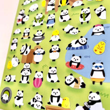 Load image into Gallery viewer, 785331 PANDA FLAT STICKERS-1 sheet