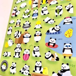 785331 PANDA FLAT STICKERS-1 sheet