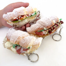 Load image into Gallery viewer, 831221 SUGAR CROISSANT SANDWICH SQUISHY-Slow rise-4.25 inch-1 piece