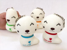Load image into Gallery viewer, 831821 WHITE DOG SQUISHY-slow soft-4 inch-1 piece