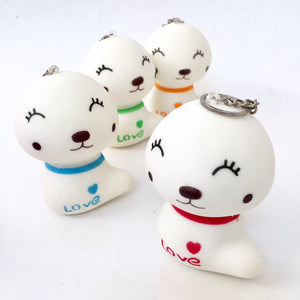 831821 WHITE DOG SQUISHY-slow soft-4 inch-1 piece